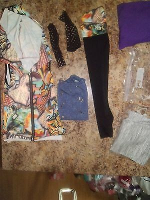 Youth Girls Costume Gallery Size M Multicolor 4pc Outfit Hoodie Shirt Shorts Ect