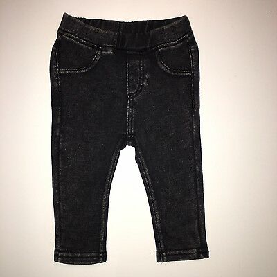H&m Baby Girls Black Leggings Jeggings Trousers - 3-6 Months - (Next Day)