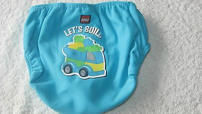 Lego 18-24 months BLUE SWIMMING TRUNKS Worn ONCE! Swim Nappy Boys 1 half 2