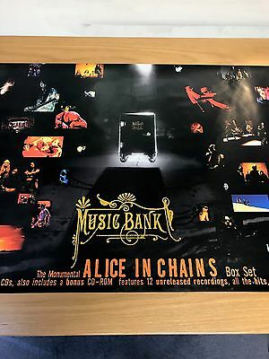 Alice In Chains Original Music Bank Promo Poster From 1999
