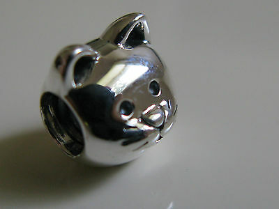 Authentic Genuine Pandora Sterling Silver Curious Cat Charm Bead 791706