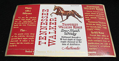 Tennessee Walking Horse Sour Mash Whisky  2 Different LABELS Tullahoma 1967