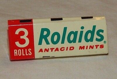 Vintage Rolaids Antacid Mints Metal Advertising Rack Sign