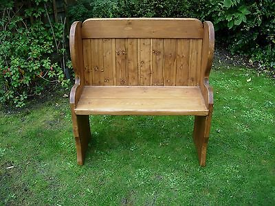 Church Pew Pine Stained Inglenook Garden Pub Cottage Barn Inn Country Cafe Rare