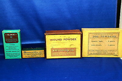 Collection Of Vintage Veterinary Medicines And Vaccine