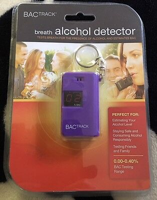 NWT>>Breath Alcohol Detector>>BACTrack>>Range 0.00-0.40%>>Keychain Attachment