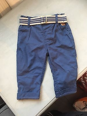 Bnwot Blue Chinos M&S 3-6 Months