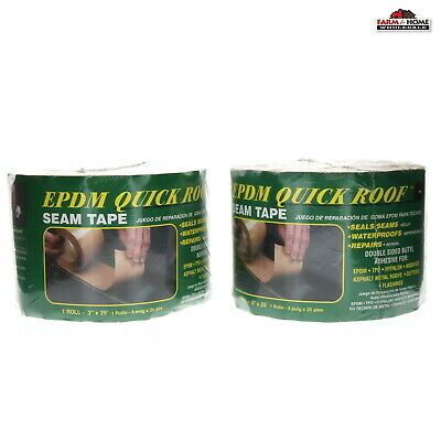 "(2) Quick Roof BST325 Epdm Roof Seam Tape 3"" x 25' ~ New"