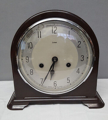 Vintage Enfield Bakelite 8 Day Mantle Clock with Strike