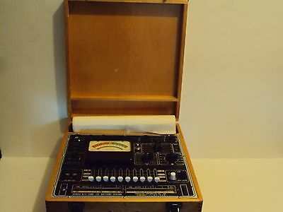 Precision Series 612 Tube & Battery Tester,   Wooden Case