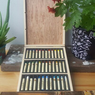 Sennelier 36 Plein Air Artists Oil Pastels Wooden Box Set for Drawing Colouring