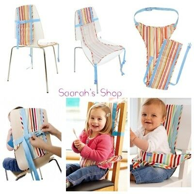 THE CHAIR HARNESS Baby Toddler Chair Portable Safety Harness Jazz Stripe Design