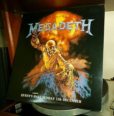 MEGADETH Queen's Hall Sunday 13th December LP 1987 Old Works Records UK Metal