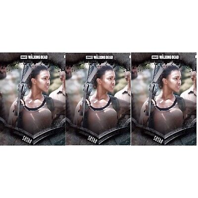 3x STOIC BLACK SASHA The Walking Dead Card Trader Digital