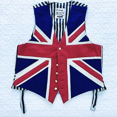 MOSCHINO Cheap And Chic Union Jack vintage vest