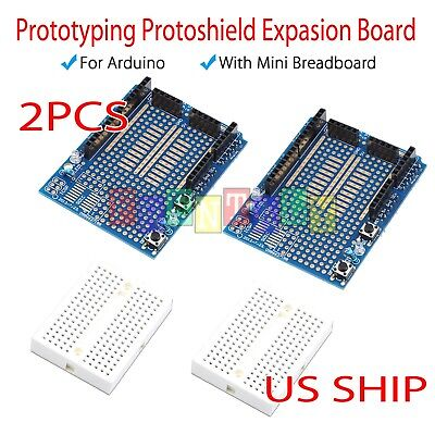 2X Mini Breadboard Prototyping Prototype Shield ProtoShield for Arduino UNO R3