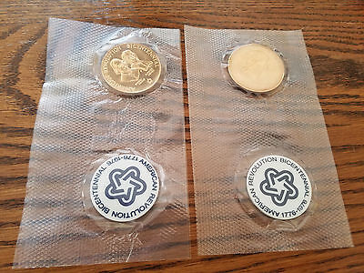 Lot Of 2 American Revolution Bicentennial Coins 1776-1976 Factory Sealed Packs