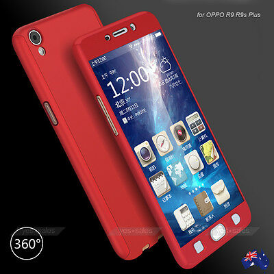 Ultra Thin 360° Full Cover Matte Tempered Glass Case Cover for OPPO R9s R11s R15