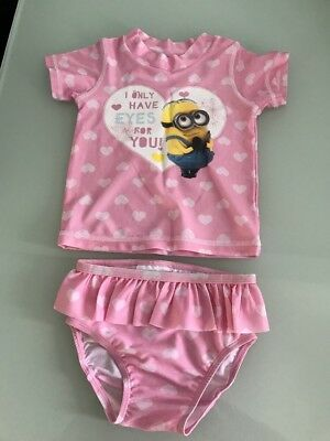 Baby Girl Bathers Despicable Me Minions Size 0 BNWOT