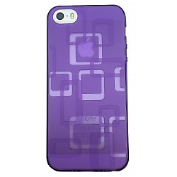 Coque iPhone 5 5S SE Rectangle Violet - Gel / Silicone