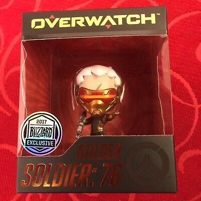Overwatch Golden Soldier 76 - Cute But Deadly Pop Vinyl. Convention Exclusive