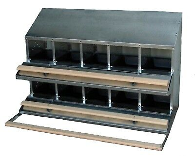 Famous 10-Hole Roll-Away Free Range Nest Box (Clean Whole Eggs/up To 50 Hens)