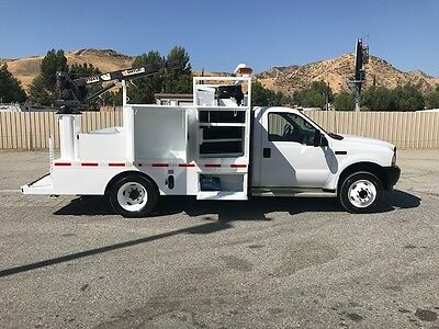 Ford F550 Mechanic Truck 77.000 Miles 7.3 Power Stroke, Auto Ac, Pto Air Compre