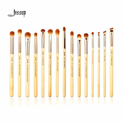 US 15pcs Bamboo Eye Makeup Brush Set Cosmetic Brushes Kit Tools Eyeshadow Jessup