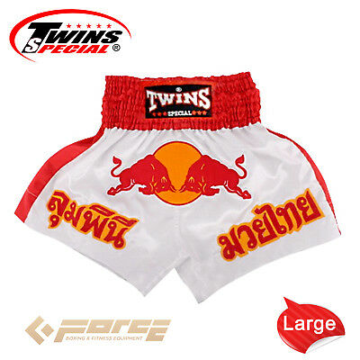 TWINS Special Pro Muay Thai Kick Boxing Shorts Pants Red Bull TBS-05 L