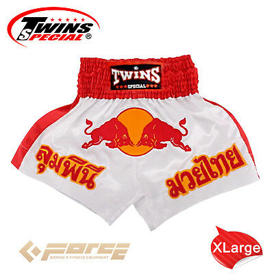 TWINS Special Pro Muay Thai Kick Boxing Shorts Pants Red Bull TBS-05 XL