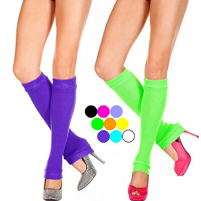 Thick Soft Knit Leg Warmer Knee High Footless Socks Halloween Costume 9 Colors