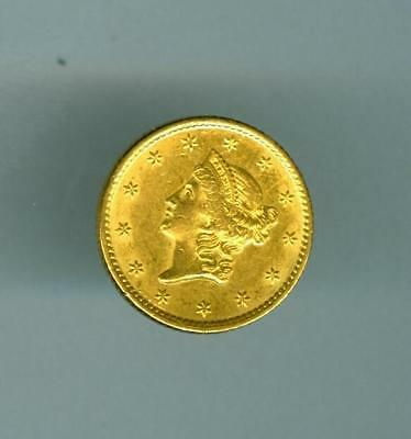 U.s. 1851 Liberty Head $1 Gold About Au Details Cleaned