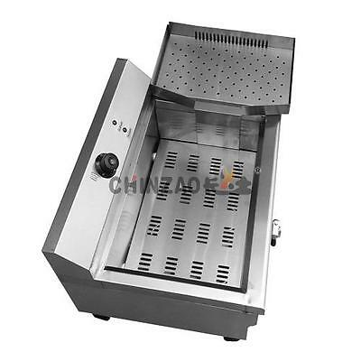 New Commercial 20 Liters Electric Deep Fryer 3Kw Drain Tape+ Basket+ Cover+Tray