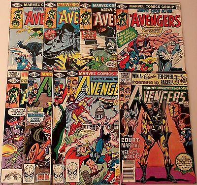 Marvel The Avengers Comic Book Lot Of Nine 32/34-37/208/209/212/213 All Ex To Nm