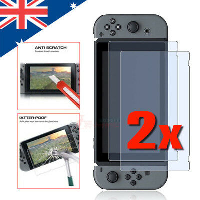 2x Premium Tempered Glass Screen Protectors compatible with Nintendo Switch