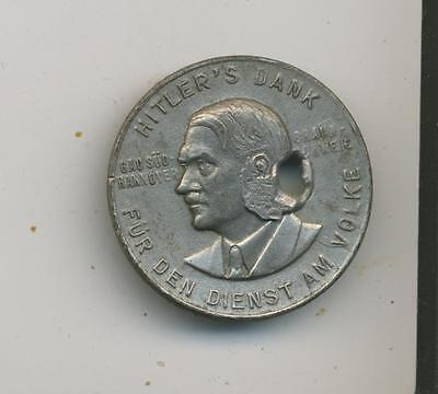 Hitlers Dank  Portrait badge pinback 1933-34 Third Reich germany WWII