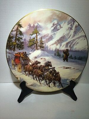 'grizzly Ambush'  Collectors 1981 Plate  Adventures Of The Old West Ltd Edition