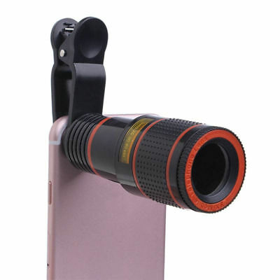 Universal Clip-on 8x Optical Zoom HD Telescope Camera Lens For Mobile Phone New