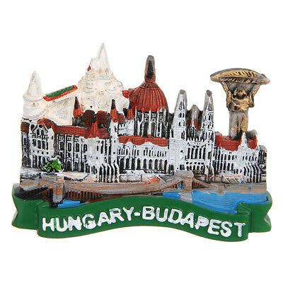 Tourist Souvenir Hungary Budapest Parliament Building Fridge Magnet Craft
