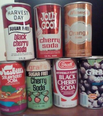 Lot of empty old soda cans