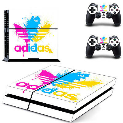 New Sony PlayStation 4 PS4 Adidas Console Vinyl Skin Sticker Decal Cover