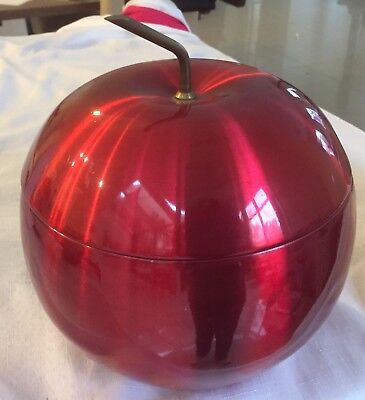Retro Lemar Red Anodised Apple Ice Bucket With No Dents Paintwork Is Ex