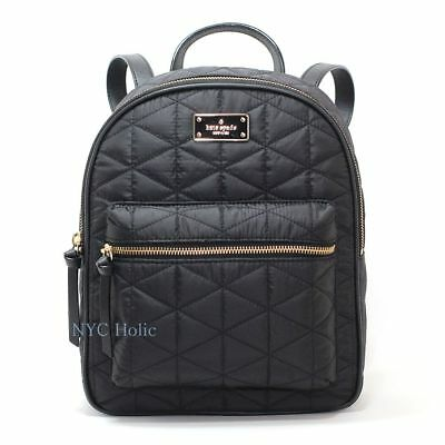 New Kate Spade New York Blake Avenue Small Bradley Backpack Black Quilted NWT