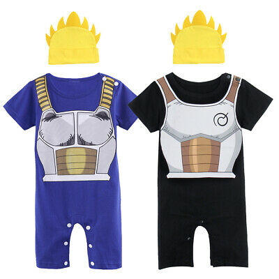 Baby Boys Dragon Ball Z Romper Goku Christmas Infant Vegeta Costume with Hat