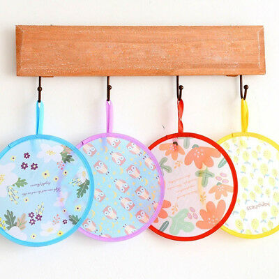 Unique Multi Functional Round Japanese Folding Fan Kids Toy Frisbee Flying Disc