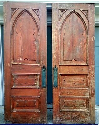 "INTERIOR CHURCH DOORS SALVAGE ARCHITECTURAL GOOD CONDITION 96.5"" x 36"" ea."