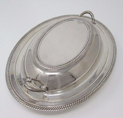 Silverplated two piece vegetable dish 682 Castleton International Silver Company