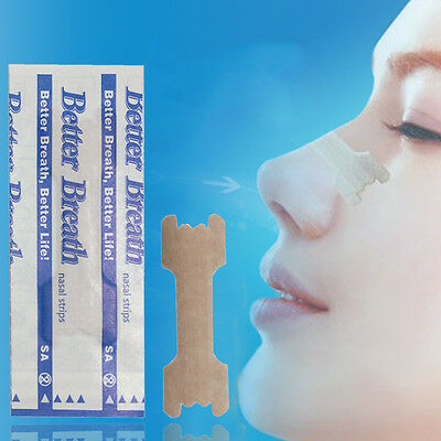 10Pcs Useful Nasal Strips Anti Snoring Sleeping Are Better Than Breath Right HOT