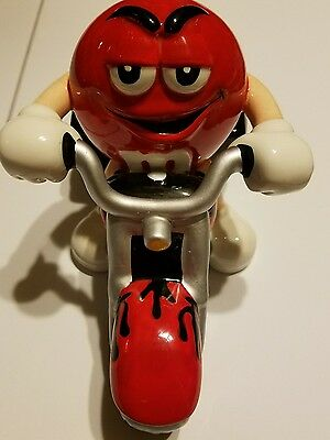 Red M&m On Motorcycle Candy Dish