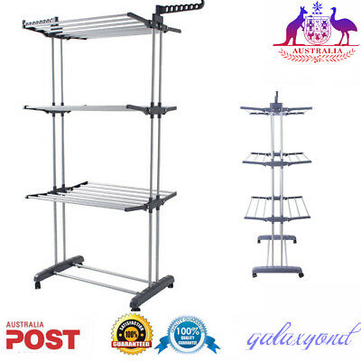 Foldable 6 Tiers Clothes Airer Indoor Laundry Drying Rack Horse Garment Hanger!!
